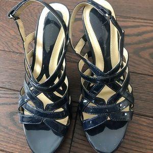 Blue strappy sandles